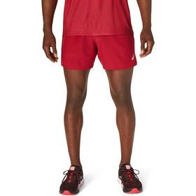 "asics Road 5"" Shorts Men burgundy"